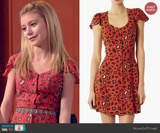 Topshop Leopard Print Tea Dress worn by G. Hannelius on Dog with a Blog