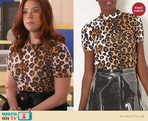 Topshop Leopard Print Crop Top worn by Jillian Rose Reed on Awkward