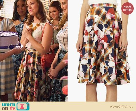 Topshop Marigold Midi Skater Skirt worn by Kaitlyn Black on Hart of Dixie