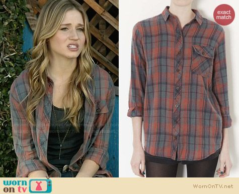 Topshop Marvin Plaid Shirt worn by Rita Volk on Faking It