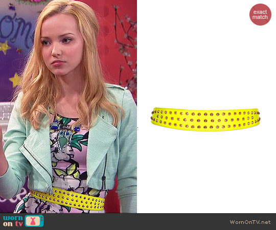 Topshop Medium Stud Waist Belt worn by Dove Cameron on Liv & Maddie
