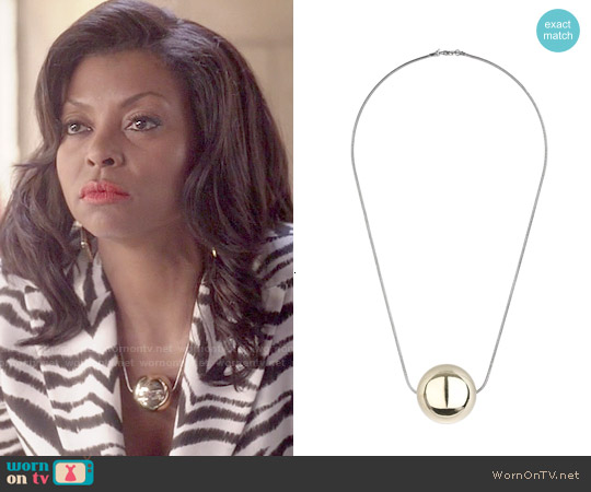 Topshop Metal Ball Pendant Necklace worn by Taraji P. Henson on Empire