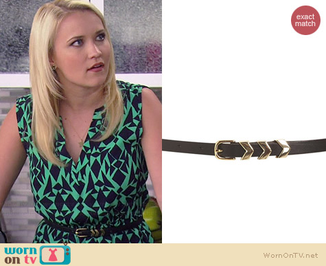 Topshop Metal Chevron Keeper Belt worn by Emily Osment on Young & Hungry