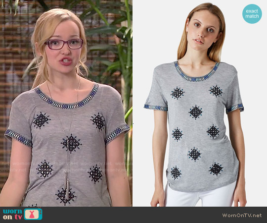Topshop Mirror Crewneck Tee worn by Dove Cameron on Liv & Maddie