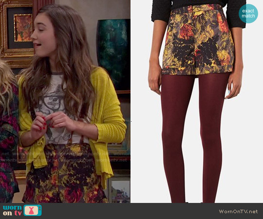 Topshop Multi Fern Shorts worn by Rowan Blanchard on Girl Meets World