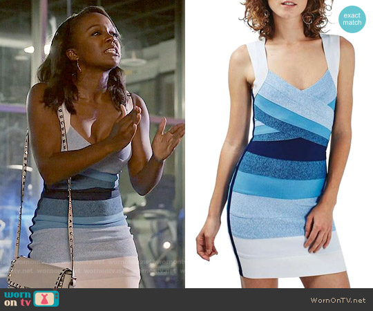 Topshop Ombré Bandage Body-Con Dress worn by Aja Naomi King on HTGAWM