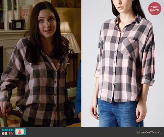 Topshop Oversized Checked Shirt worn by Haley Ramm on Chasing Life