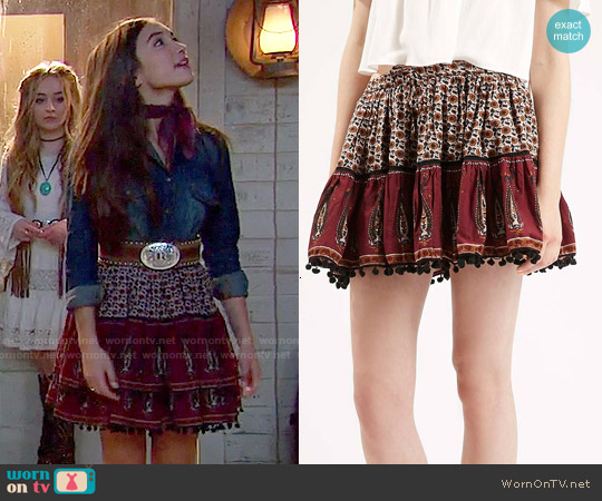 Topshop Paisley Mini Skirt worn by Rowan Blanchard on Girl Meets World