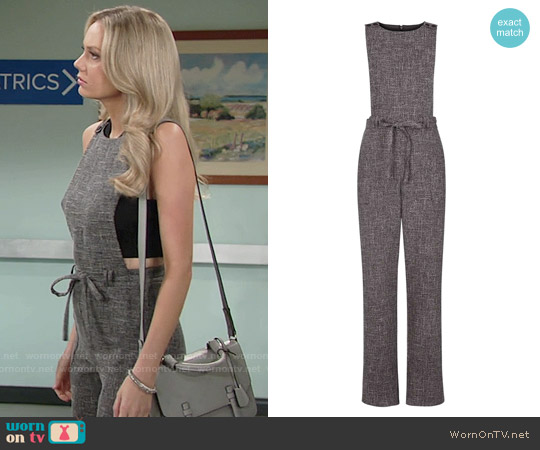 Topshop Pinafore Jumpsuit worn by Melissa Ordway on The Young & the Restless