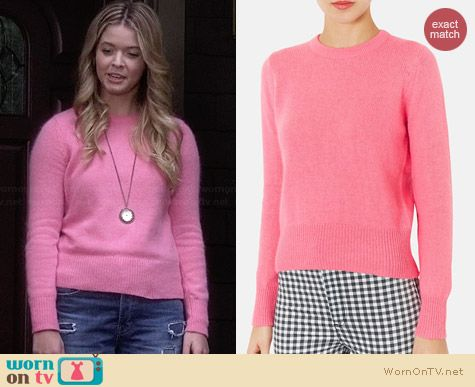 Topshop Pink Angora Knit Sweater worn by Sasha Pieterse on PLL