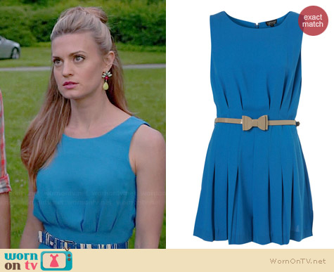 Topshop Pleated Bow Playsuit worn by Brooke D'Orsay on Royal Pains
