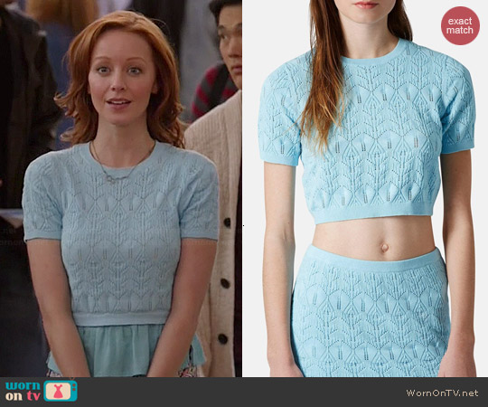 Topshop Pointelle Crop Top worn by Lindy Booth on The Librarians