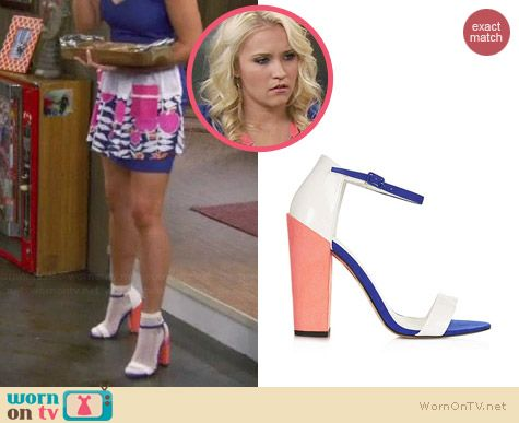 Topshop Ratchet Block Heel Sandals worn by Emily Osment on Young & Hungry