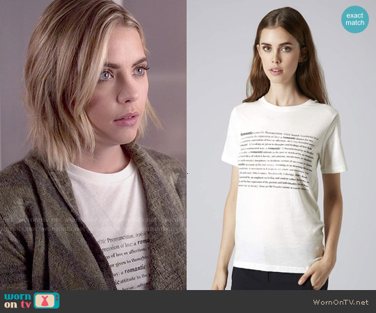 Topshop Romance Tee worn by Hanna Marin on PLL