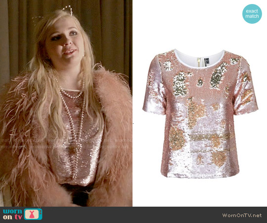 Topshop Sequin Top worn by Abigail Breslin on Scream Queens