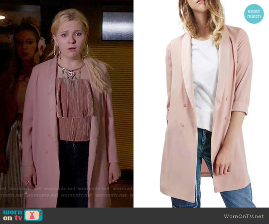 Topshop Slouchy Longline Blazer worn by Chanel #5 on Scream Queens