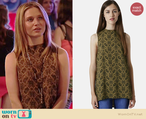 Topshop Snake Print Tunic worn by Rita Volk on Faking It