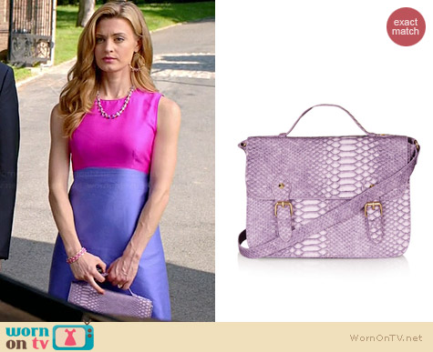 Topshop Snake Satchel worn by Brooke D'Orsay on Royal Pains