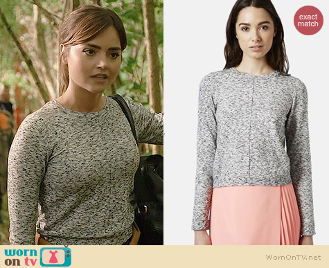 Topshop Space Dye Jumper worn by Jenna Coleman on Doctor Who
