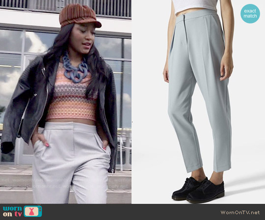 Topshop Straight Leg Crop Pants worn by Zayday Williams on Scream Queens