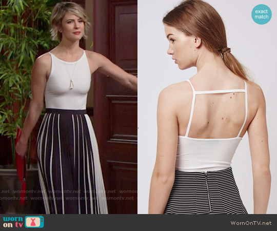 Topshop Strappy Back Body worn by Linsey Godfrey on The Bold & the Beautiful