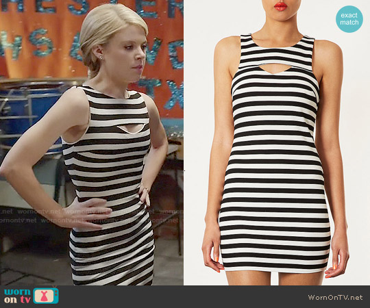 Topshop Striped Cutout Dress worn by Bailey Buntain on Faking It