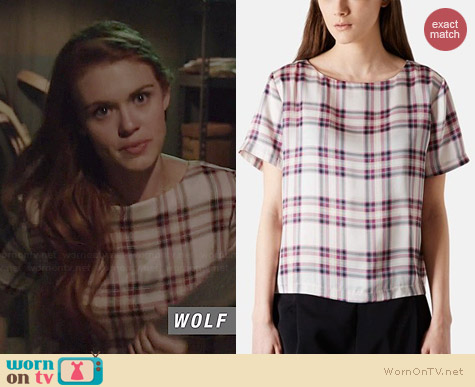 Topshop Summer Check Print Tee worn by Holland Roden on Teen Wolf