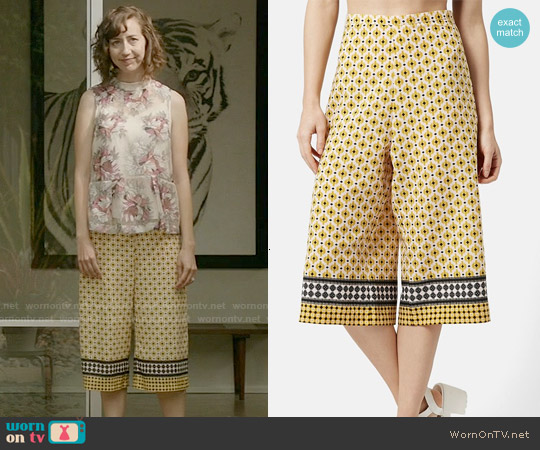 Topshop Tile Print Culottes worn by Kristen Schaal on Last Man On Earth