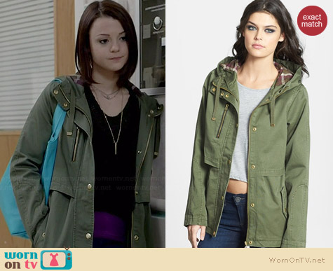 Topshop Wilbert Parka worn by Kathryn Prescott on Finding Carter