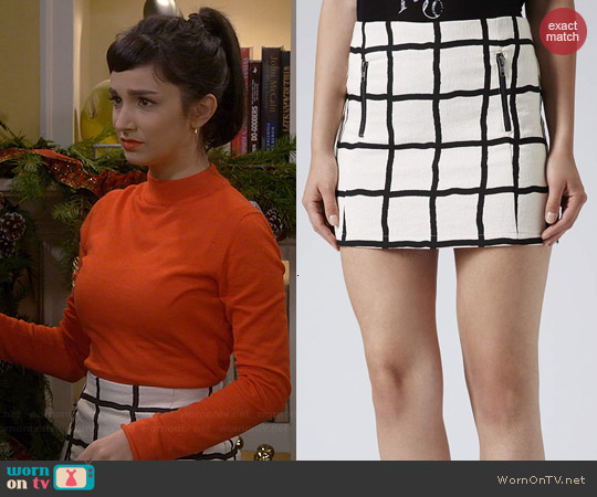 Topshop Window Pane Pelmet Skirt worn by Molly Ephraim on Last Man Standing