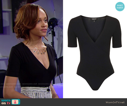Topshop Wrap Front Body worn by Nicole Avant on The Bold & the Beautiful
