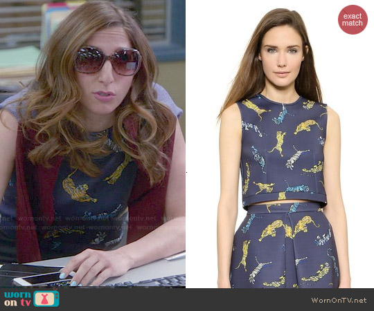 Torn by Ronny Kobo 'Amira' Crop Top worn by Chelsea Peretti on Brooklyn Nine-Nine