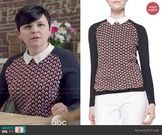 Tory Burch Carmine Sweater worn by Ginnifer Goodwin on OUAT