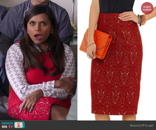 Tory Burch Debra Skirt worn by Mindy Kaling on The Mindy Project