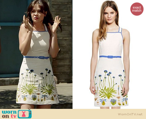 Tory Burch Emilia Dress worn by Zooey Deschanel on New Girl