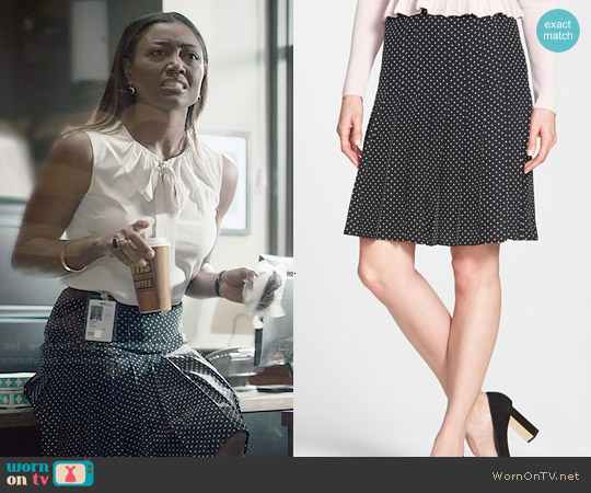 Tory Burch 'Erika' Polka Dot Skirt worn by Patina Miller on Madam Secretary