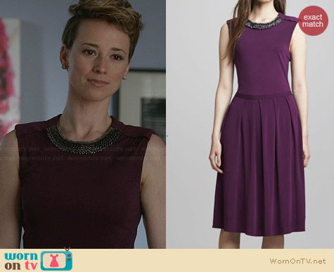 Tory Burch Eva Dress worn by Karine Vanasse on Revenge