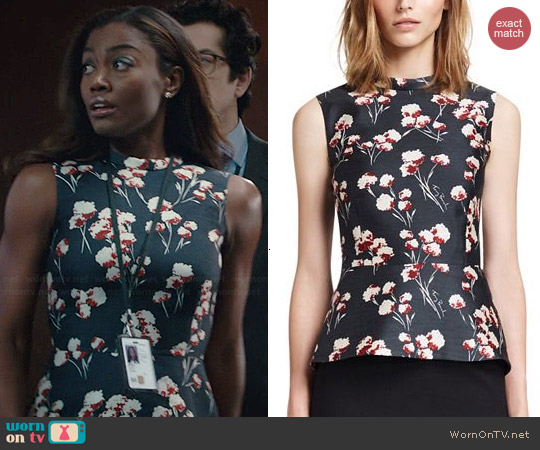 Tory Burch Kelly Top worn by Patina Miller on Madam Secretary