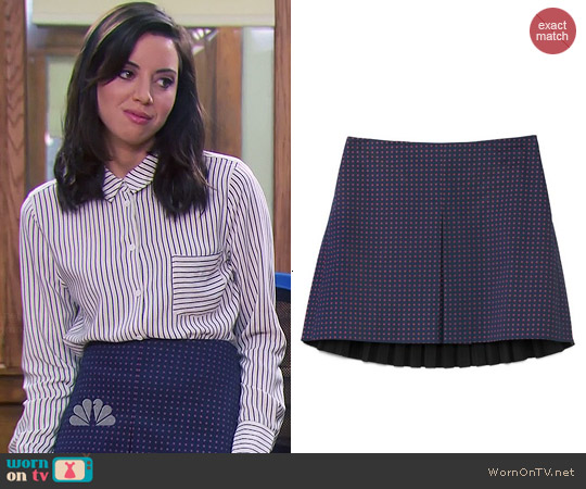 Tory Burch Klarissa Skirt worn by April Ludgate on Parks & Rec