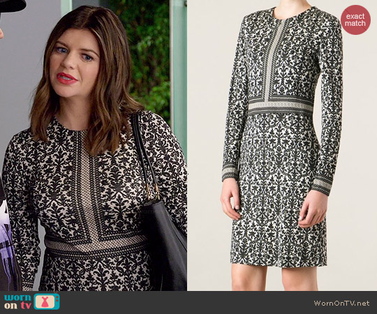 Tory Burch Deborah Ornament Print Dress worn by Casey Wilson on Marry Me