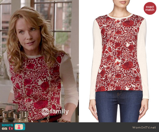 Tory Burch Roanan Sweater worn by Lea Thompson on Switched at Birth