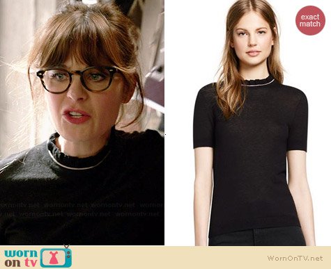 Tory Burch Rolanda Sweater worn by Zooey Deschanel on New Girl