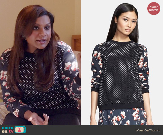 Tory Burch Ronnie Pullover worn by Mindy Kaling on The Mindy Project