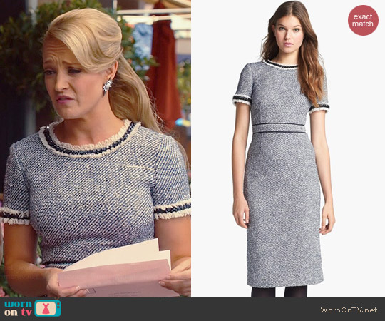 Tory Burch Rosemary Tweed Sheath Dress worn by Brandi Burkhardt on Hart of Dixie