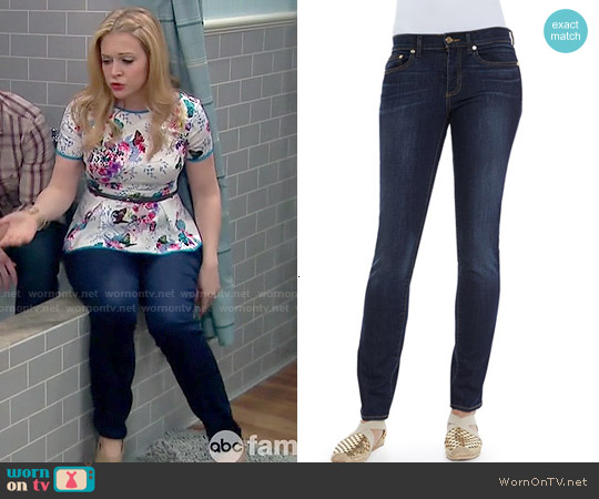 Tory Burch Skinny Jeans worn by  Melanie Burke on Melissa & Joey
