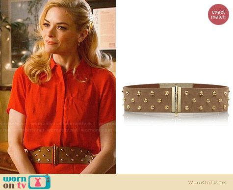 Tory Burch Theophile Suede Crystal Stud Belt worn by Jaime King on Hart of Dixie