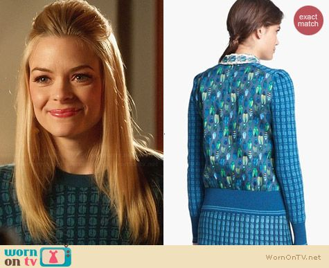 Tory Burch Walda Sweater worn by Jaime King on Hart of Dixie
