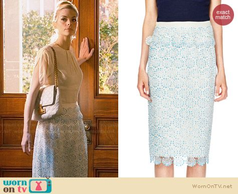 Tory Burch Whitney Skirt in Tahitian Turquoise worn by Jaime King on Hart of Dixie