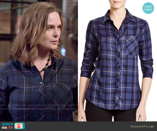 Townsen Didda Plaid Shirt worn by Emily Deschanel on Bones