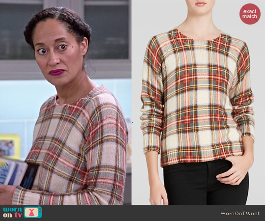 Townsen Sleigh Plaid Sweater worn by Tracee Ellis Ross on Blackish